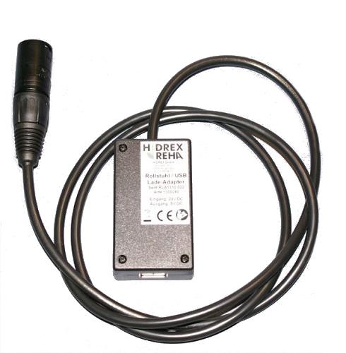 Rollstuhl-USB-Ladeadapter XLR 24 V/5 V