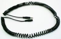 3,5mm Klinke Verlängerung Spiral- kabel für Taster 4m m/f