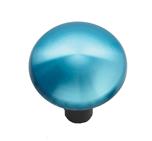 Joystick mit Aluminiumhaube blau Ø 43 mm,  Schaft Ø 5 mm
