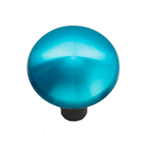 Joystick mit Aluminiumhaube blau Ø 43 mm, Schaft Ø 6 mm