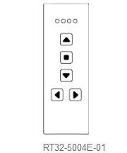 Handsender RT32 4-Kanal schwarz, glänzend