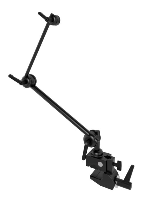 Monty L3D 2-Rohr Halterung für GA mit Tischklemme und Zapfen