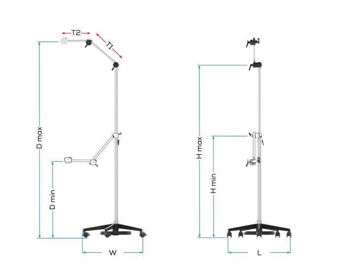 FloorStand Pentalock Tele