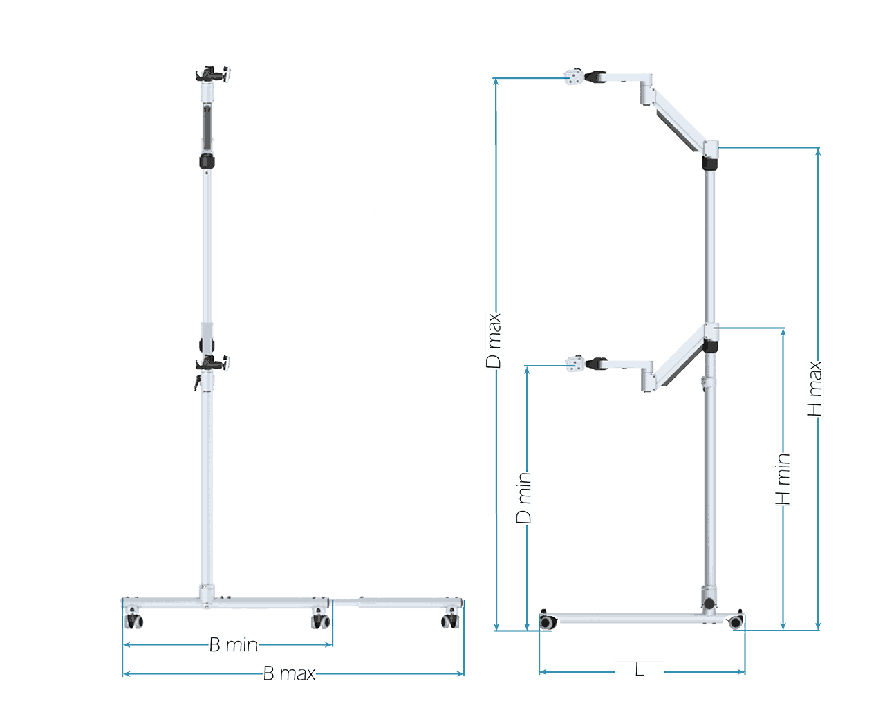 Bodenrollstativ Floorstand EcoFloat