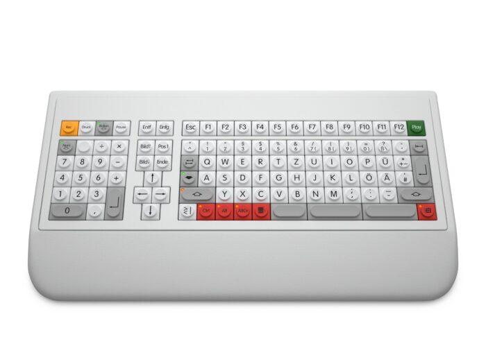 ABP KT10 Kleintastatur mit Handballenauflage und NB links
