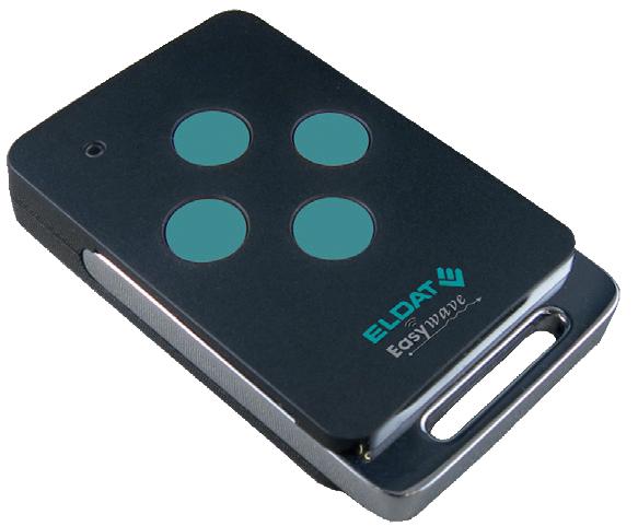 Handsender RT42 4-Kanal,schwarz,Metallb. 2xEIN/AUS,1xAUF/STOPP/ZU,4xIMPULS