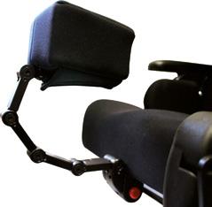 Halterung für Pelotte an Sitzplatte montiert, abklappbar