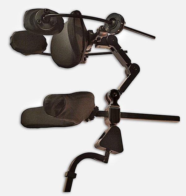 NinoUltra Hinterhaupt- und Nackenstütze gebogene Aufnahmestange 15 mm Vierkant