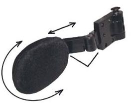 Halterung Seitenpelotte links Nino 180° abschwenkbar, standard
