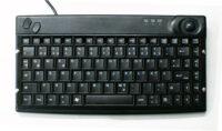 Fingerführung für Tastatur Humankommunikator mit Trackball