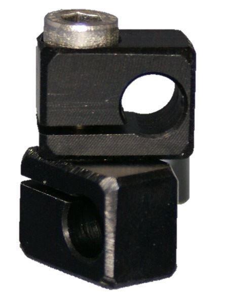 Doppelklemme eloxiert eckig 8/8mm