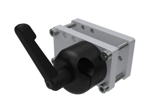 Rahmenklemme eckig Ø 30-70mm mit Basis Ø 16 mm HidrexFlex QS