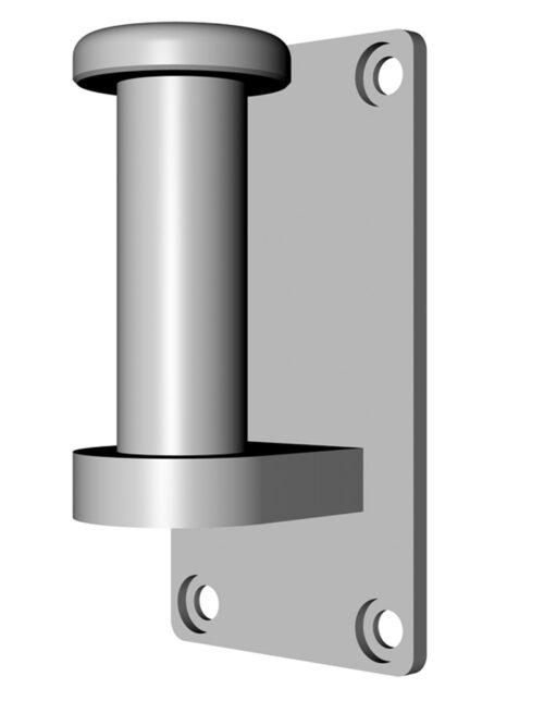 Wandhalterung mit 80 mm Bolzen für RehaCaddy Ausführung bis 04.12.2011