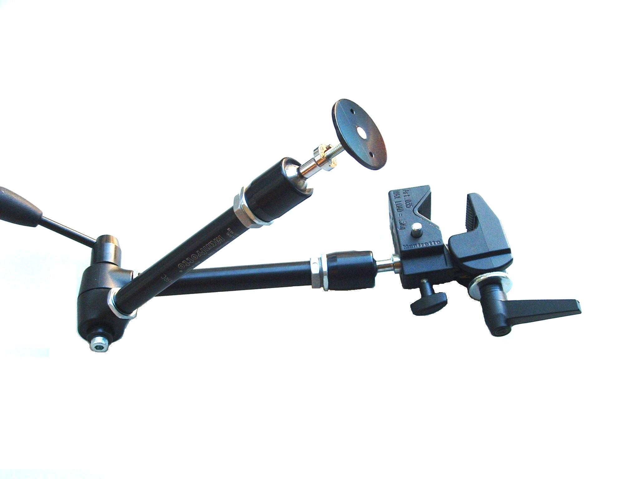 Dreigelenkhalter mit Buttonaufnahme für MicroLight