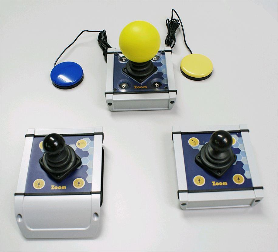 ABP Joystick ZOOM I mit Folientasten silber