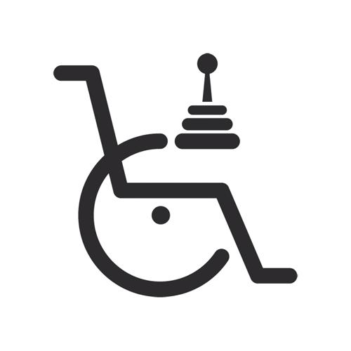 Rollstuhlsondersteuerung und Zubehör